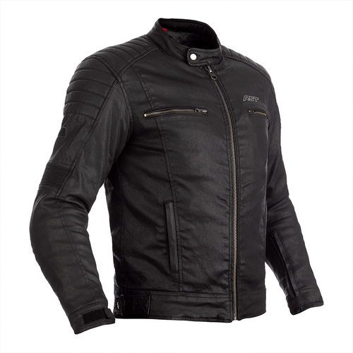 RST BRIXTON WAX COTTON VINTAGE STYLE JACKET CE APPROVED MOTORCYCLE RETRO BLACK