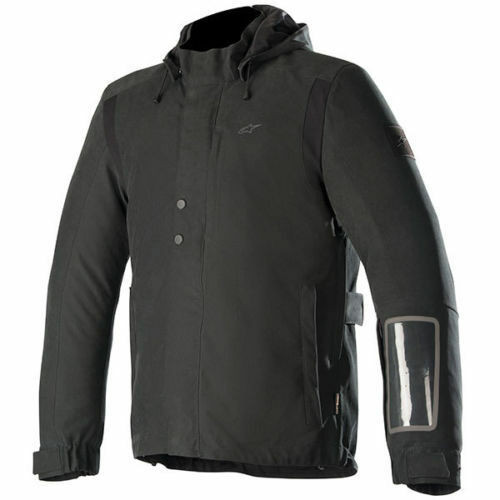 Alpinestars Marshall Drystar Waterproof Motorcycle Jacket Black Size Large