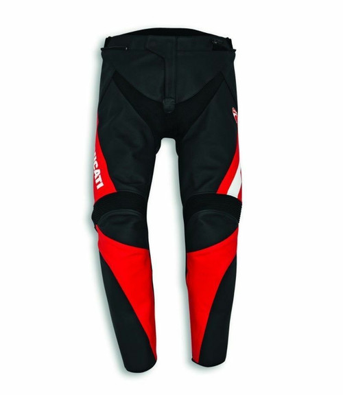 Alpinestars Speed Evo C1 Ducati Mens Leather Motorcycle Trousers Black Red NEW