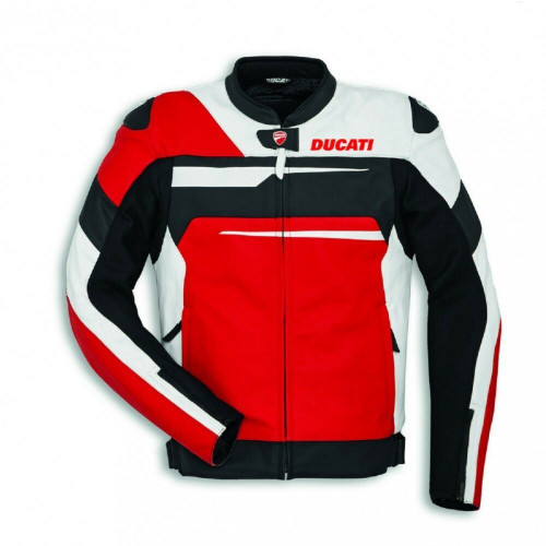 Ducati Speed Evo C1 Perforated Leather Jacket Alpinestars Mens Black Red White