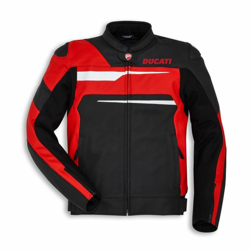 Ducati Speed Evo C1 Leather Jacket Alpinestars Mens Black Red SALE! Brand New