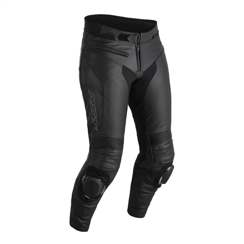 RST Sabre Motorcycle Motorbike Trousers Leather Sports Black Long Leg 2540