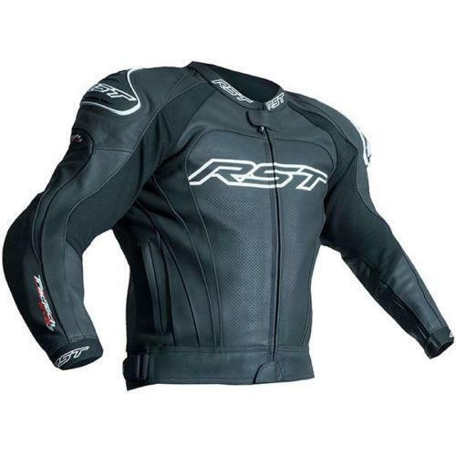 RST 2051 Tractech Evo 3 III Sports Leather Motorcycle Jacket Black New Model