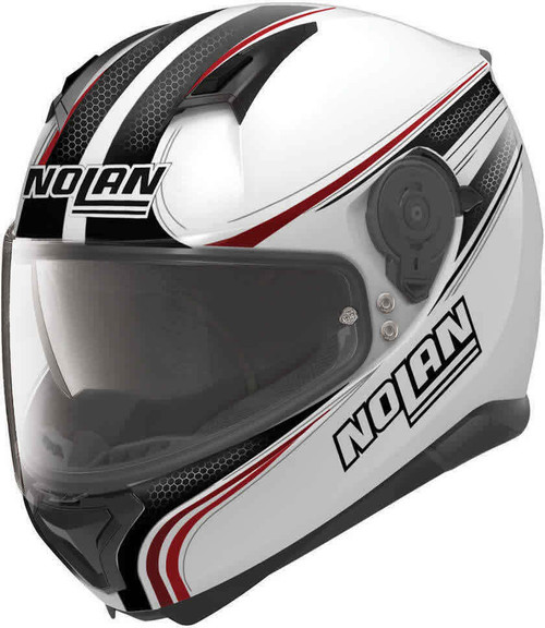 Nolan N87 Rapid N-Com 017 Metal White Motorcycle Helmet Sale Save £50