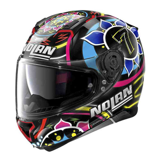 Nolan N87 Gemini Chaz Davies 096 Replica Motorcycle Crash Helmet 2020 Black