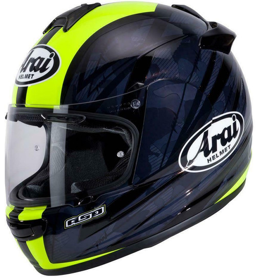 Arai Debut Blast Motorcycle Helmet Black Flo Yellow All Sizes Brand New Model