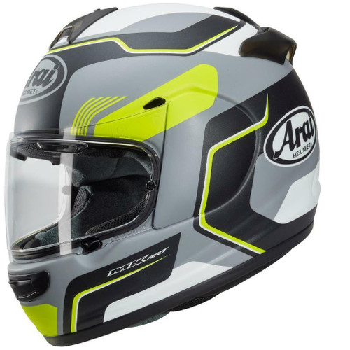 Arai Axces 3 III Sense Motorcycle Crash Helmet Matt Flo Yellow