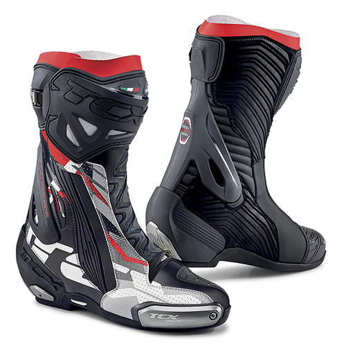 TCX RT-Race Pro Air Motorcycle Boots Summer Ce Road Race Boots Black Grey Red