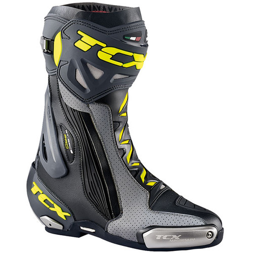 TCX RT-Race Pro Air Motorcycle Boots Summer Ce Race Boots Black Grey Flo Yellow