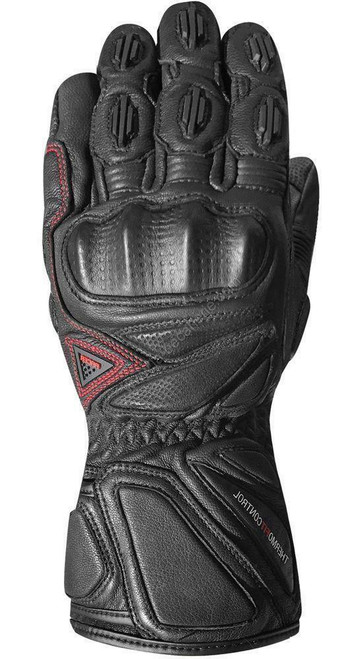 Racer Hailwood Waterproof Outdry Motorcycle Race Gloves Black CE Approved