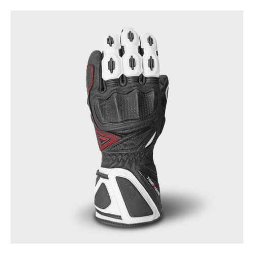 Racer Hailwood Waterproof Outdry Motorcycle Race Gloves Black White CE Approved