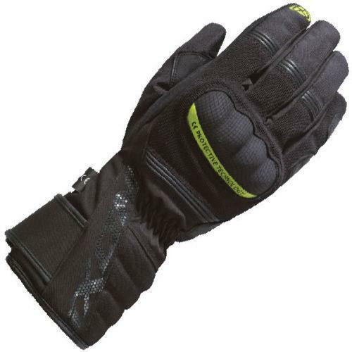 Ixon Pro Tenere Motorcycle Gloves Ce Waterproof Breathable Touch Screen Yellow