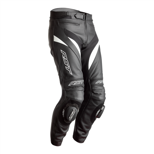 RST 2358 Tractech Evo 4 Mens Leather Motorcycle Trousers Black White