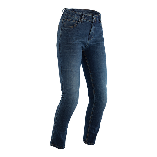 RST Ladies Made with Kevlar Tapered-Fit CE Denim Jeans 2621 Blue Short