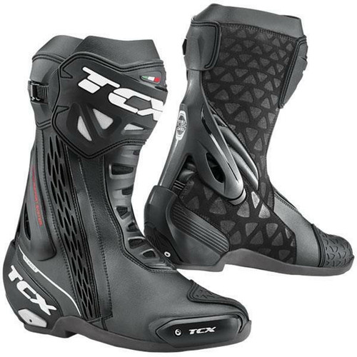 TCX RT-Race Motorcycle Boots Road Race Boots Black