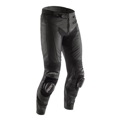 RST R-Sport CE Mens Leather Sports Motorcycle Trousers Black Short Leg - 2257