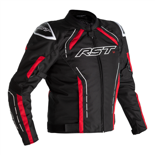 RST S-1 Motorcycle Jacket Textile Sports Waterproof Black Red White 2559 CE