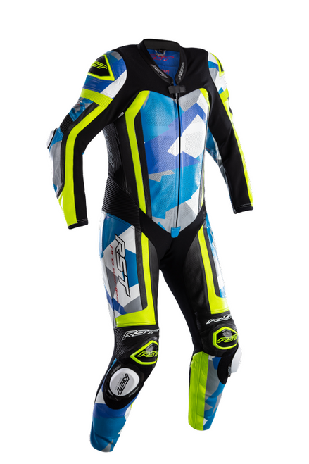 RST Pro Series Airbag One Piece Leathers Motorcycle Motorbike 2520 Blue Camo