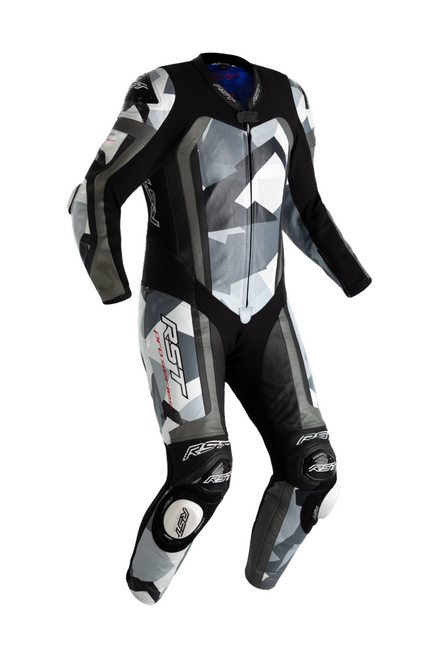 RST Pro Series Airbag One Piece Leathers Motorcycle Motorbike 2520 Grey Camo