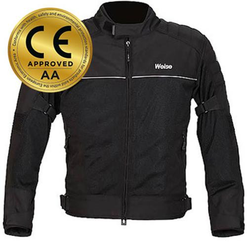 Weise Scout Textile Mesh Motorcycle Jacket Black