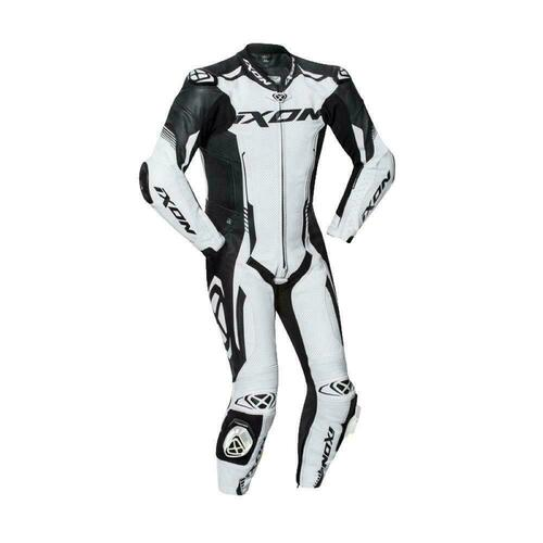 Ixon Vortex 2 Full Race Spec One Piece Motorcycle Leathers White Airbag Ready
