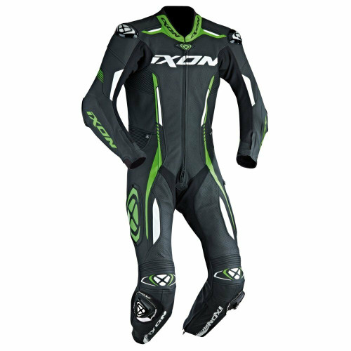 Ixon Vortex Full Race Spec One Piece Motorcycle Leathers Green Sale Save £140