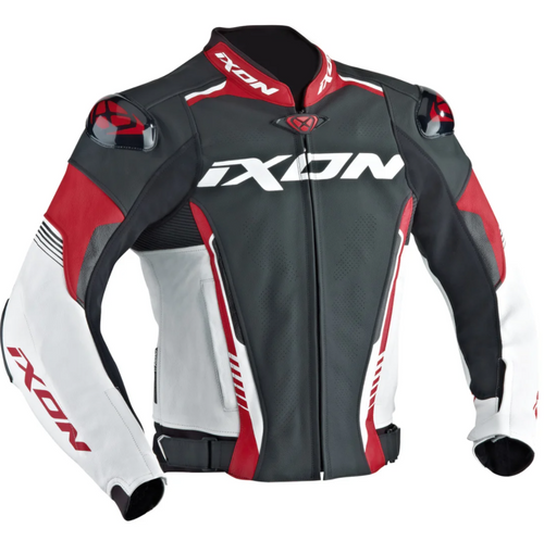 Ixon Vortex High Spec Motorcycle Racing Style Jacket Red Next Day Delivery