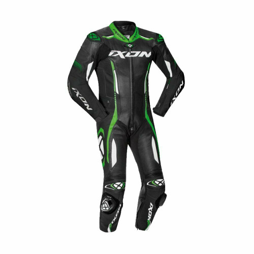 Ixon Vortex 2 II Full Race Spec One Piece Motorcycle Leathers Green Airbag Ready