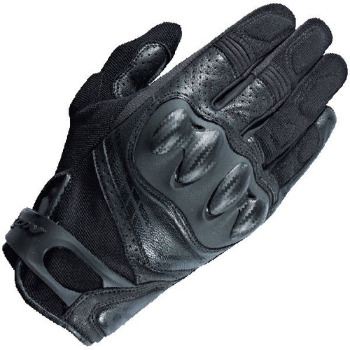 Ixon RS Drift Motorcycle Gloves Textile & Leather Black Ce approved