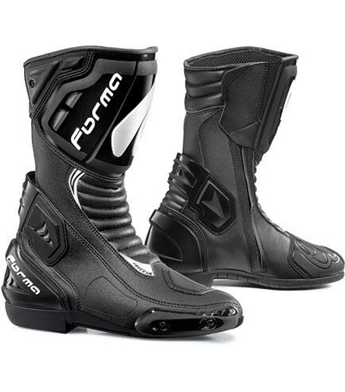 Forma Freccia Leather Motorcycle Boots CE Approved Black Sale Save £50
