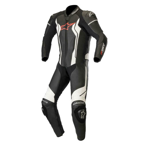 Alpinestars GP Force Leather Motorcycle One Piece Suit Black White