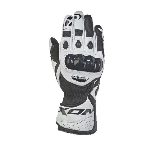 Ixon RS Circuit 2 Leather Motorcycle Sport Gloves Black White
