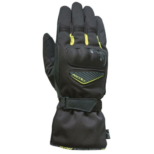 Ixon Pro Arrow Motorcycle Gloves Waterproof Breathable Textile Leather Yellow