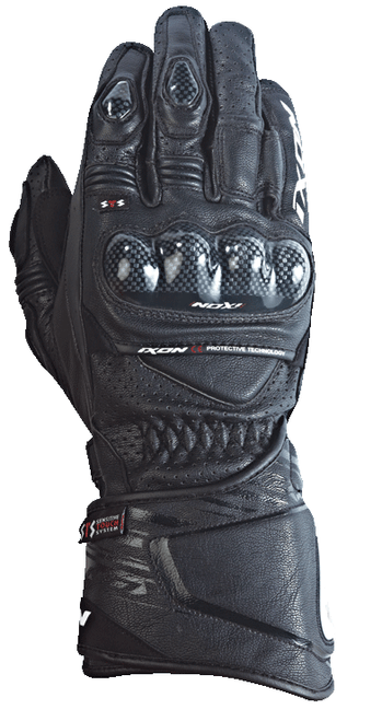 Ixon RS Circuit HP Leather Motorcycle Race Gloves Carbon Black All Sizes SALE
