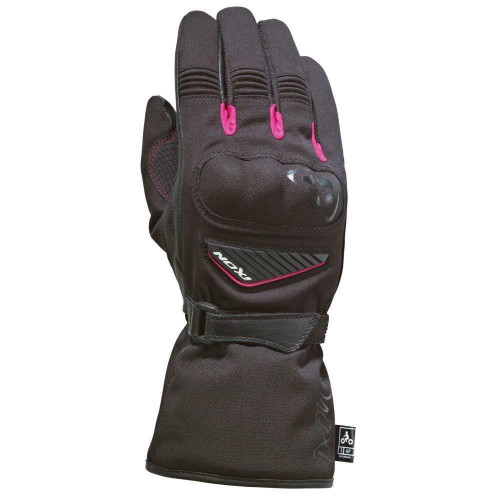 Ixon Pro Arrow Lady Motorcycle Gloves Waterproof Breathable  Black Fuschia