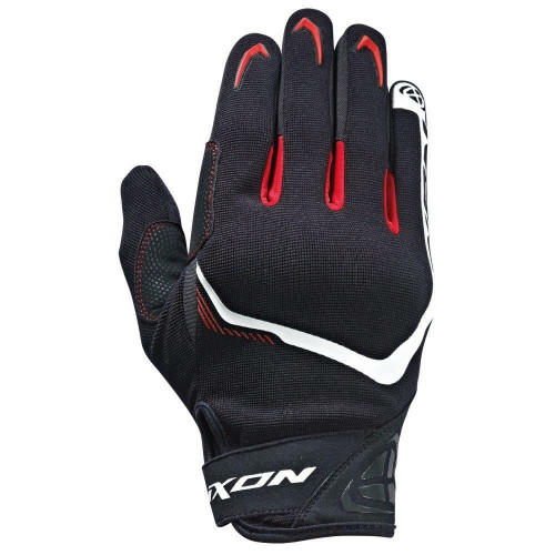 Ixon RS Lift 2.0 Motorcycle Gloves Breathable Textile Black White Red
