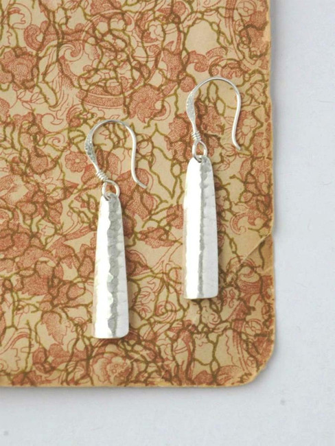 Path Forward Silver Hammered Earrings