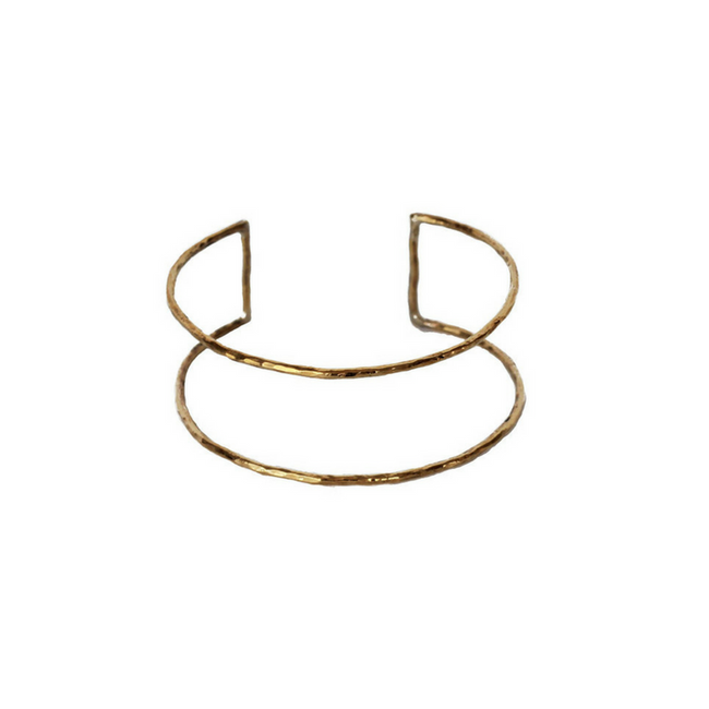 Seeing Double Gold Cuff Bracelet, Gold Plated Cuff Bracelet