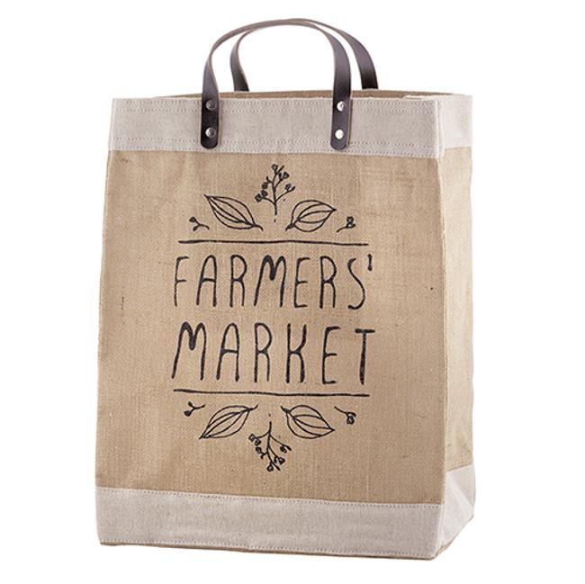 Jute Market Tote - Farmer's Market Jute Bag, Shopping Tote