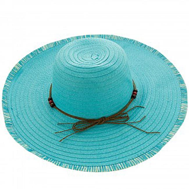 Women's Wide Floppy Beach Hat, Wide Brimmed Sun Hat - Aqua