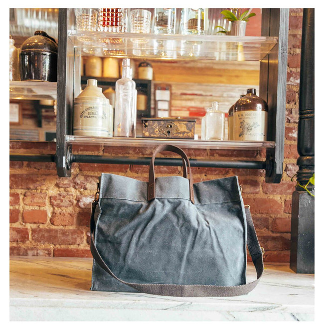 Waxed Canvas Advantage Utility Tote, Waxed Canvas Work Bag