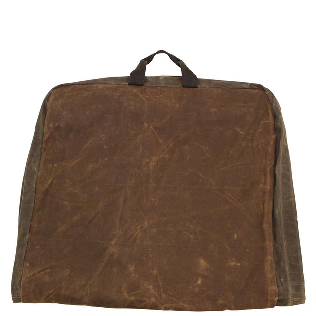 Waxed Canvas Garment Bag, Hanging Clothes Carry on Bag