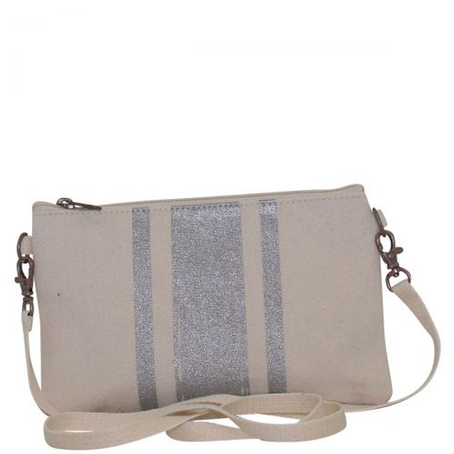 Brushed Canvas Crossbody Clutch, Canvas Crossbody Clutch