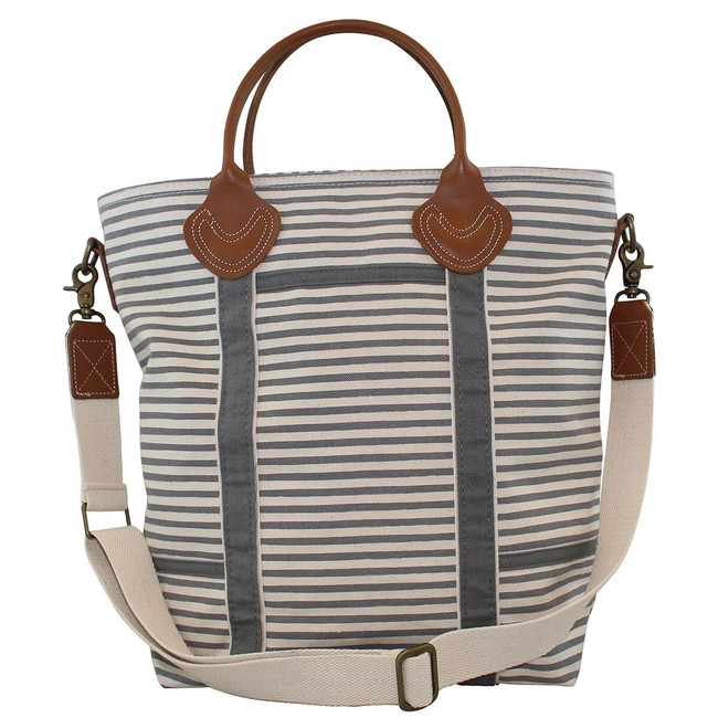 Striped Canvas Flight Travel Bag, Multifunctional Travel Bag