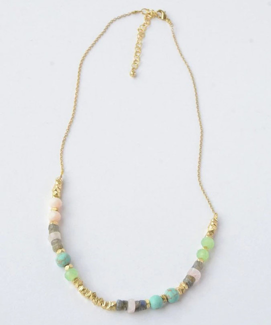 Playful Pastels Beaded Necklace
