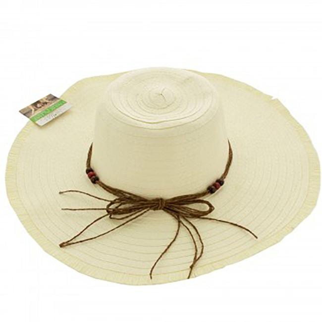 Women's Wide Floppy Beach Hat, Wide Brimmed Sun Hat - Cream