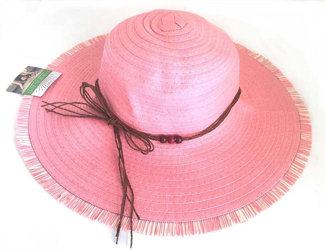 Women's Wide Floppy Beach Hat, Wide Brimmed Sun Hat - Pink
