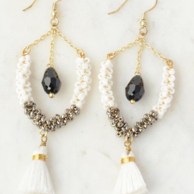Multi-Textured Tassel Earrings