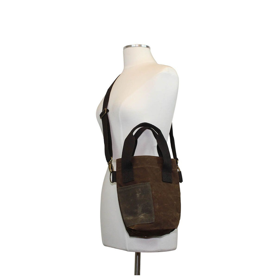 Waxed Canvas Double Wine Tote