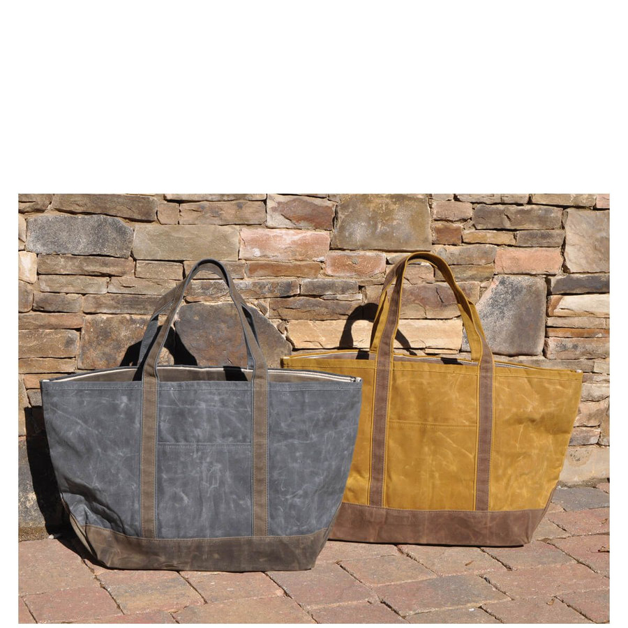 Large Waxed Canvas Boat Tote, Large Boat Tote Bag